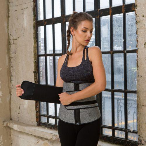 Waist Trainer Cincher Trimmer Body Shaper Slimming Sauna Sweat Belt Yoga Girdle